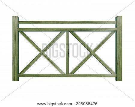 PT design wood railing 3d render model