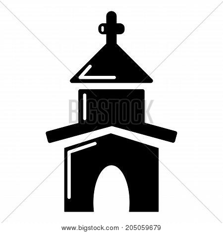 Church icon . Simple illustration of church vector icon for web design isolated on white background