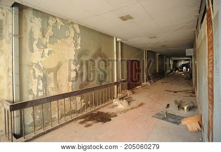 interior of Abandoned building house - scary house