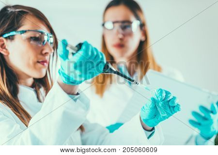 Life Science Research, Toned Image, Two Women