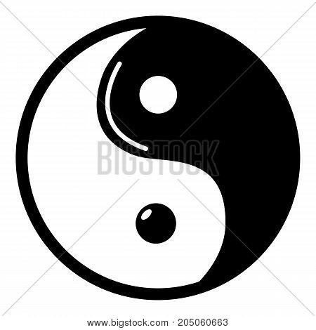 Yin yang symbol taoism icon . Simple illustration of yin yang symbol taoism vector icon for web design isolated on white background