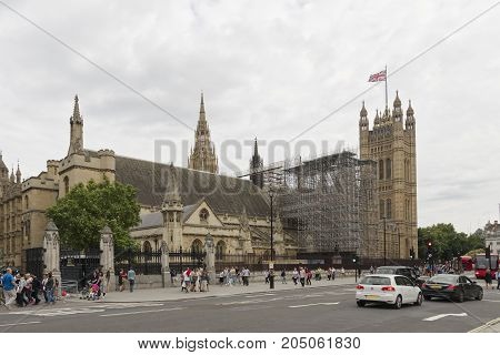 London UK - August 17 2017: Parliament to reconsider the length of time Big Ben will be silenced during renovation work . The bell is to be put out of use for 4 years on Monday 21st August for repairs. London UK.