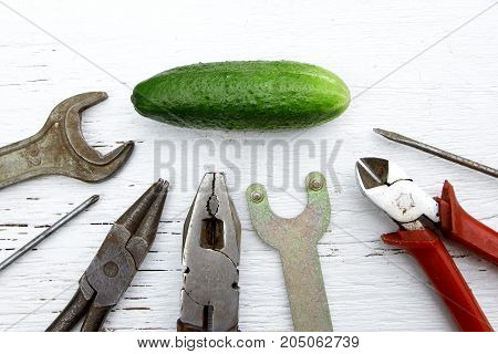 saying if it ain't broke don't fix it metaphor with whole cucumber and tools