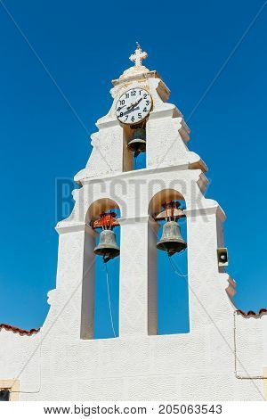 Church In Traditional Creten Village Margarites Famous For Handmade Ceramics, Crete, Greece
