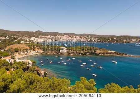 Panoramic View Of The Spanish Town Of Cadaques