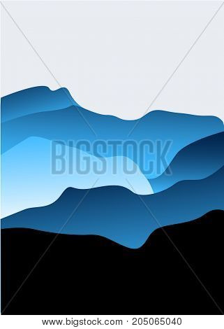 Vector Background with Mountains vector illustrations colorfull
