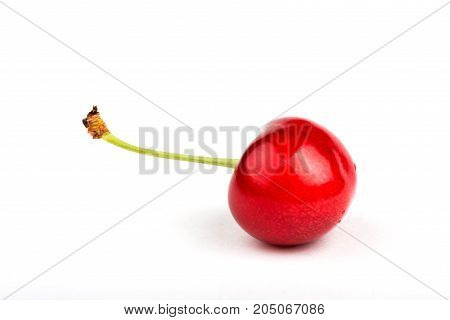 cherry on white background. red cherry. sweet cherry. red berry