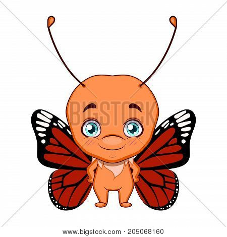 Cute Stylized Cartoon Butterfly Illustration ( For Fun Educational Purposes, Illustrations Etc. )