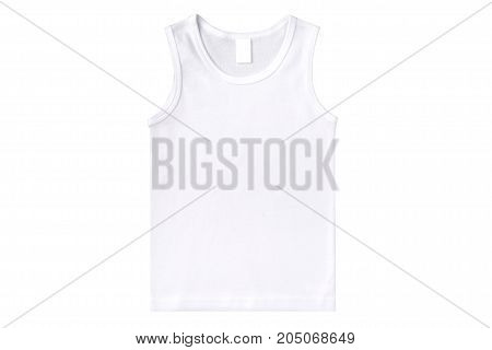 white undershirt isolated on a white background