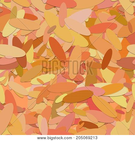 Repeating geometrical ellipse background pattern - vector illustration from orange rounded shapes with shadow effect