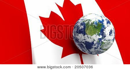 Canadian Flag & The Earth