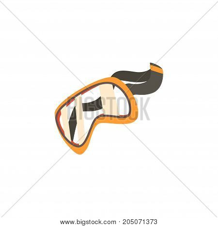 Protective glasses, safety goggles cartoon vector illustration isolated on a white background
