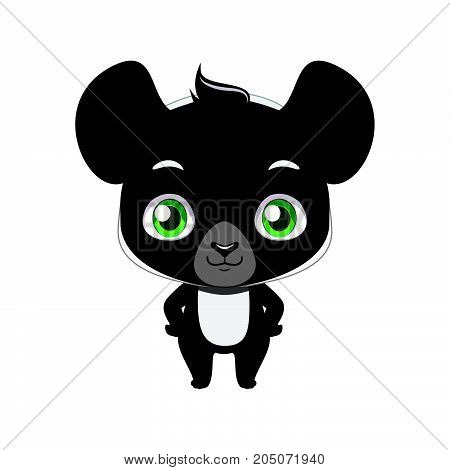 Cute Stylized Cartoon Indri Illustration ( For Fun Educational Purposes, Illustrations Etc. )