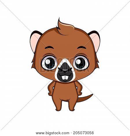 Cute Stylized Cartoon Groundhog Illustration ( For Fun Educational Purposes, Illustrations Etc. )
