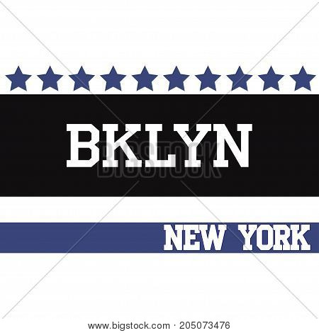 Fashion Typography Graphics. New York Sport Brooklyn team T-shirt Design, vector
