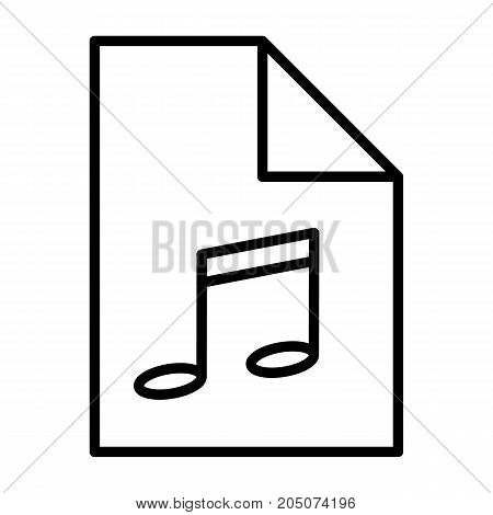 Audio file thin line icon. 96x96 for Web Graphics and Apps.  Simple Minimal Pictogram. Vector
