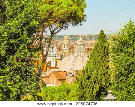 View Of Roofs And Cityscape Of Rome