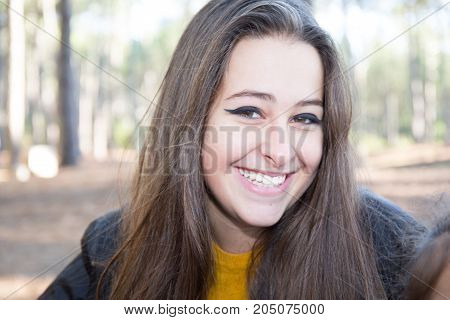 Beautiful Young Multicultural Woman In An Outdoor Setting