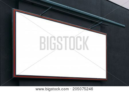 Blank advertising city billboard poster copy space on urban building for graphic design mock up