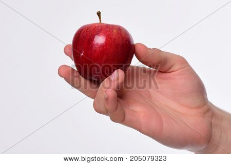 Apple In Bright And Juicy Color. Health And Nutrition Concept