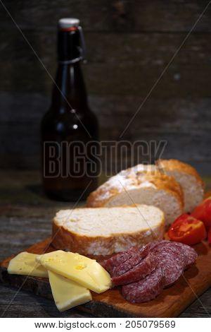 Sausage Tomato Cheese Bread