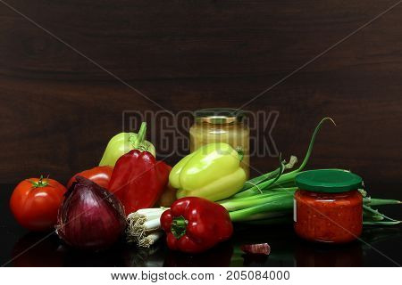 Autumn still life / Various vegetables on the table