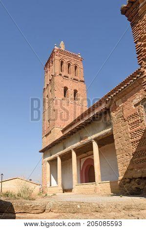 Santo Tomas Church In Villanueva Del Campo, Tierra De Campos Region, Zamora Province, Castilla Y Leo