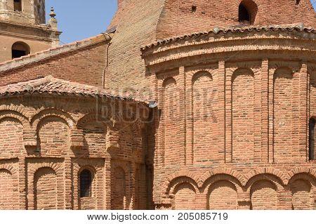 detail of the Church of San Tirso in Sahagun Way of St. James Leon Spain
