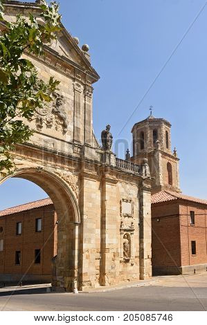 San Benito Arch In Sahagun, Way Of St. James, Leon, Spain