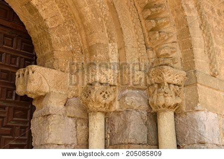 Detail Of The Portico Of Romanesque Church Of Santa Maria, Carrion De Los Condes, Spain
