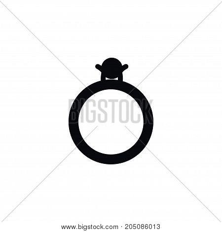 Brilliant Vector Element Can Be Used For Brilliant, Diamond, Ring Design Concept.  Isolated Diamond Icon.