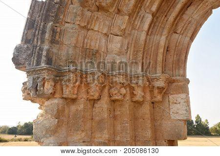 San Miguel De Mazarreros Arch In Sasamon, Spain