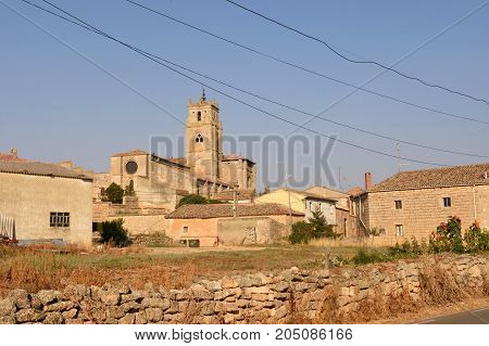 View of the village of Sasamon Burgos province Spain