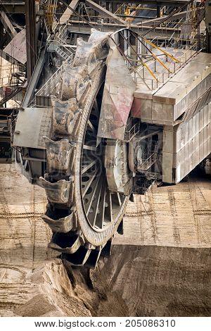 Wheel Mining Excavator Open Pit Mine