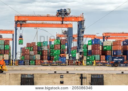 Sea Containers Shipping Port