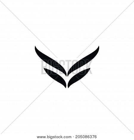 Fly Vector Element Can Be Used For Wings, Fly, Angel Design Concept.  Isolated Wings Icon.