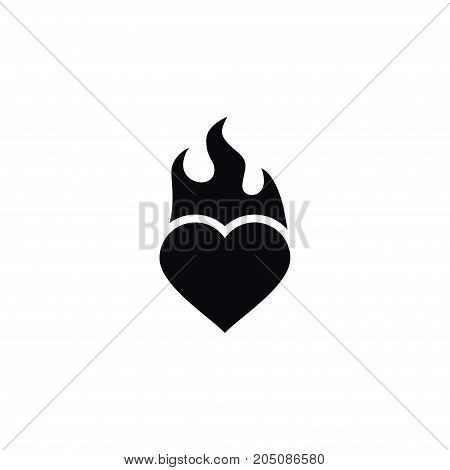 Burn Vector Element Can Be Used For Burn, Flame, Heart Design Concept.  Isolated Flame Icon.