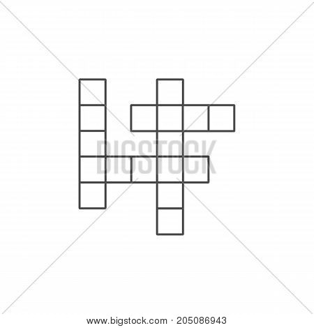 Guess Vector Element Can Be Used For Guess, Crossword, Puzzle Design Concept.  Isolated Crossword Flat Icon.