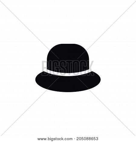 Trilby Vector Element Can Be Used For Accessory, Trilby, Hat Design Concept.  Isolated Cap Icon.