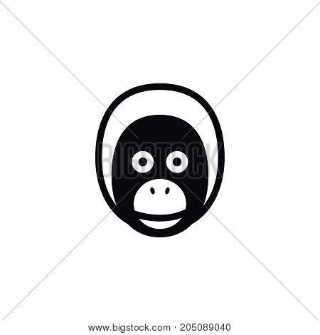 Orangutan Vector Element Can Be Used For Orangutan, Monkey, Baboon Design Concept.  Isolated Baboon Icon.