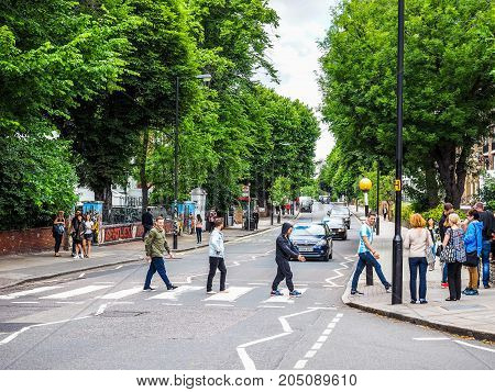 Abbey Road Crossing In London, Hdr