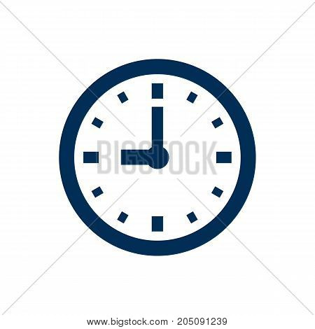 Vector Timer Element In Trendy Style.  Isolated Clock Icon Symbol On Clean Background.