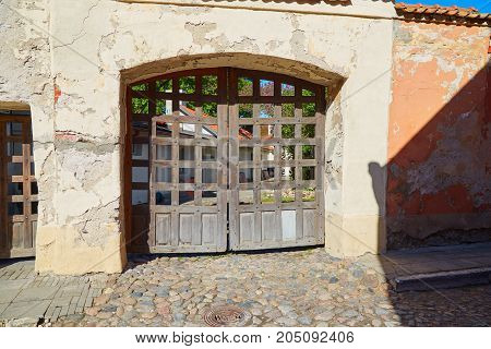 Old Latticed Gates In Tallinn