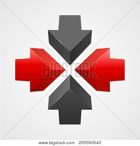 Arrows icon vector template. Creative design. Vector illustration
