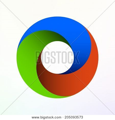 Vector abstract color swirl. Modern vector illustration
