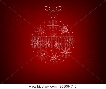 Christmas red design with snowflakes as a New Year s toy, balloon