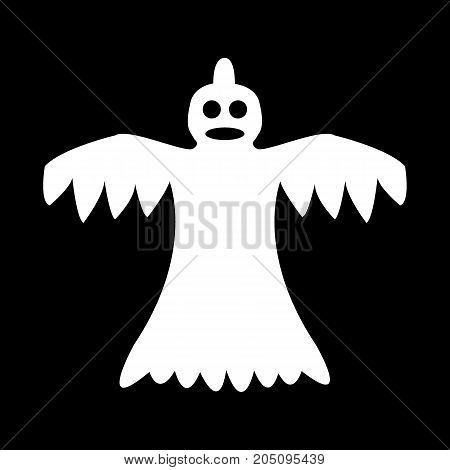 cartoon ghost on a black background vector