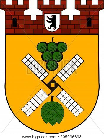 Coat of arms of Prenzlauer Berg is a locality of Berlin Germany. Vector illustration from the