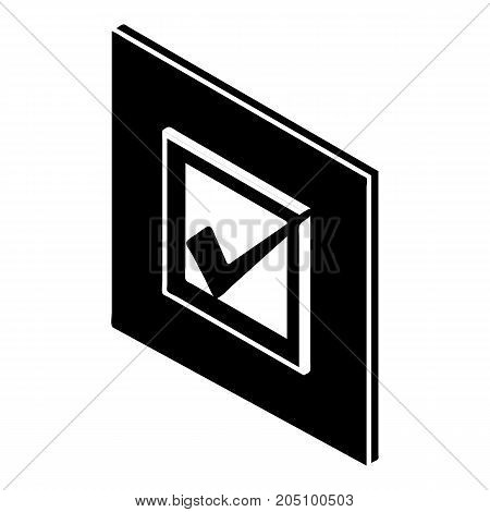 Voted sign icon. Simple illustration of voted sign vector icon for web design isolated on white background
