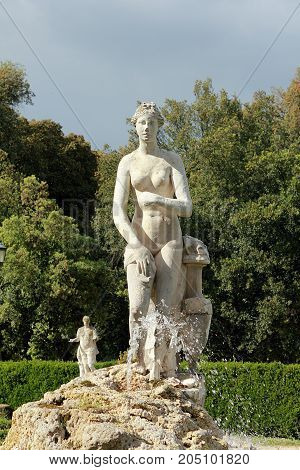 Rome, Italy - May 16, 2012: Fontana di Venere (fountain of Venus) in Villa Borghese